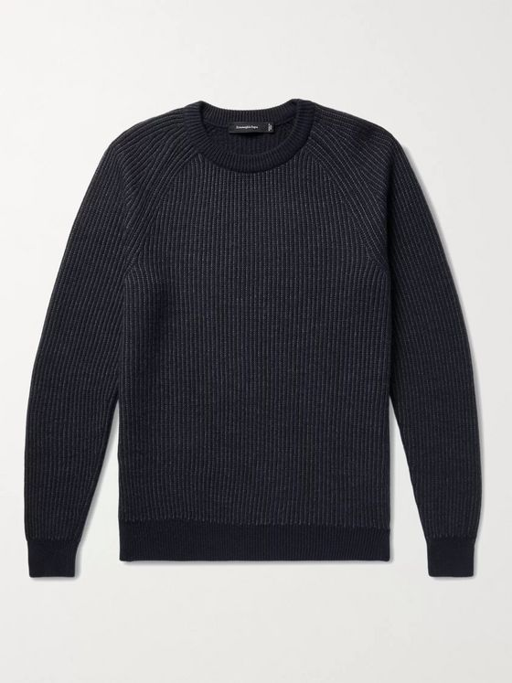 Ermenegildo Zegna Ribbed Cashmere and Wool-Blend Sweater