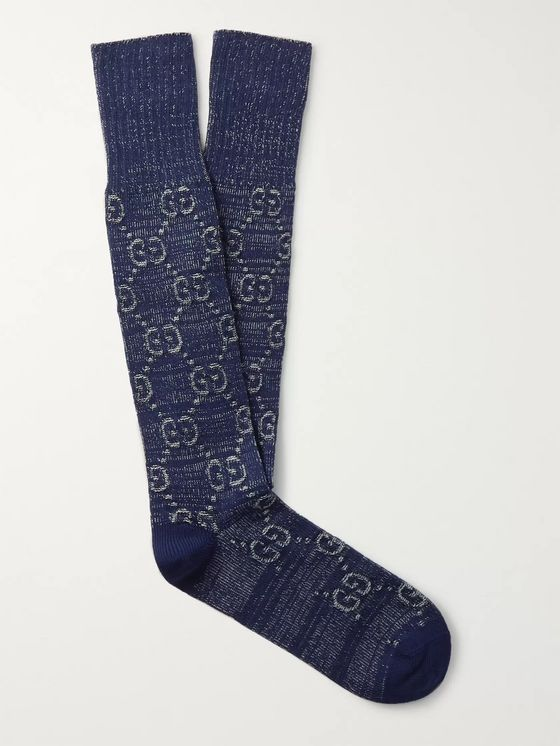 Gucci Logo-Jacquard Cotton-Blend Socks