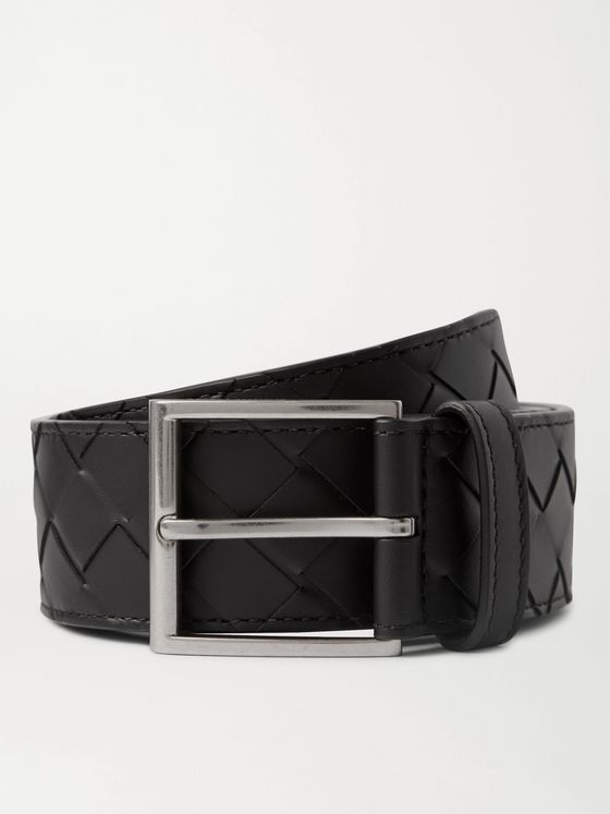 BOTTEGA VENETA 4cm Intrecciato Leather Belt