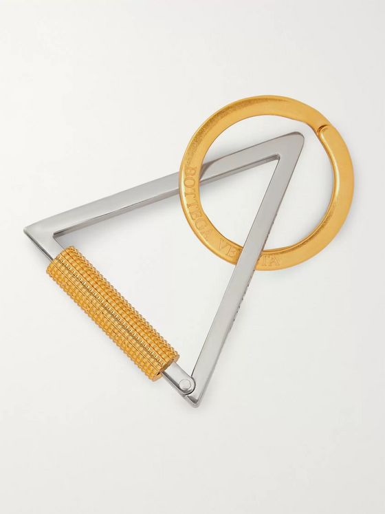 Bottega Veneta Gold and Silver-Tone Key Fob