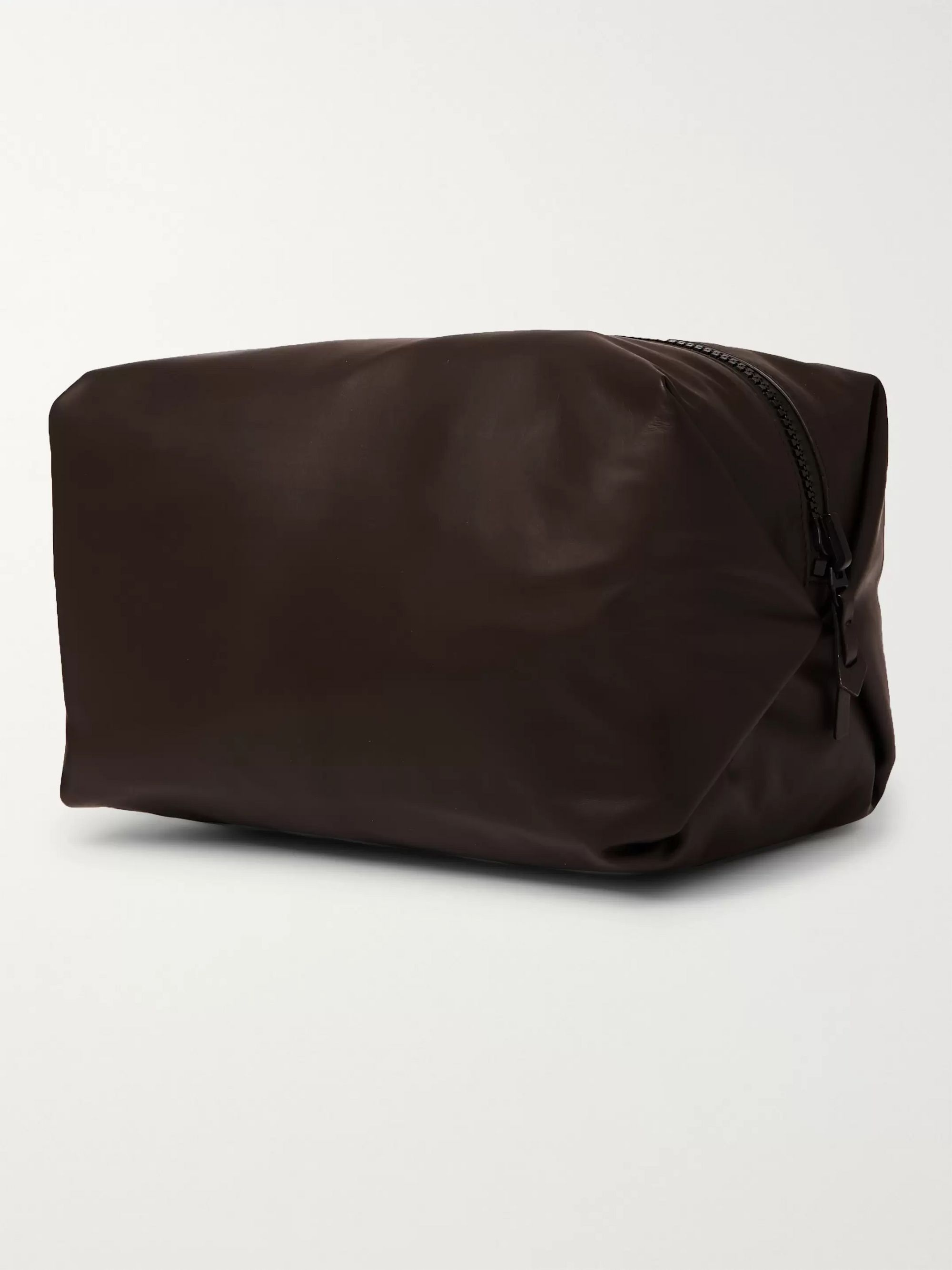 Bottega Veneta Reversible Leather and Nylon Wash Bag