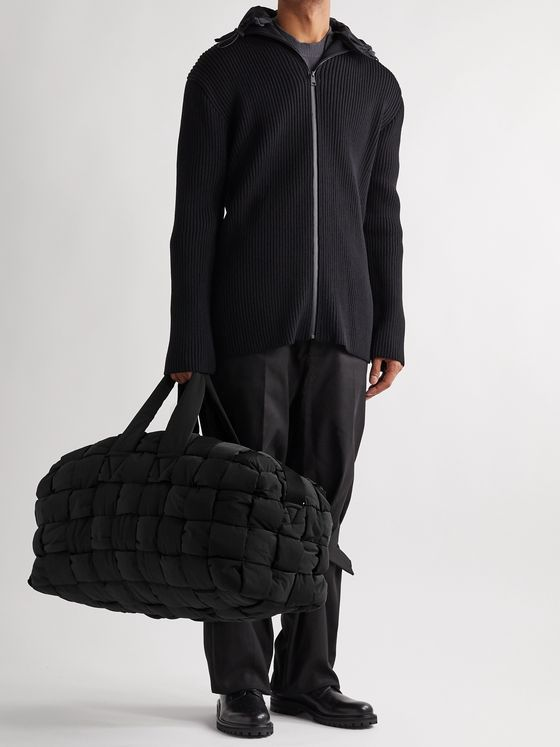 Bottega Veneta Padded Quilted Nylon Duffle Bag