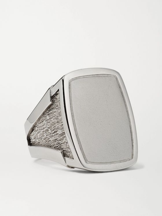 BOTTEGA VENETA Sterling Silver Signet Ring