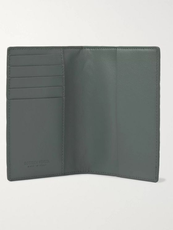 BOTTEGA VENETA Intrecciato Leather Passport Cover