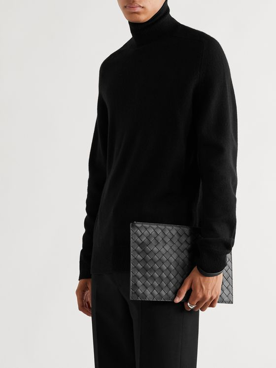 BOTTEGA VENETA Large Intrecciato Leather Pouch