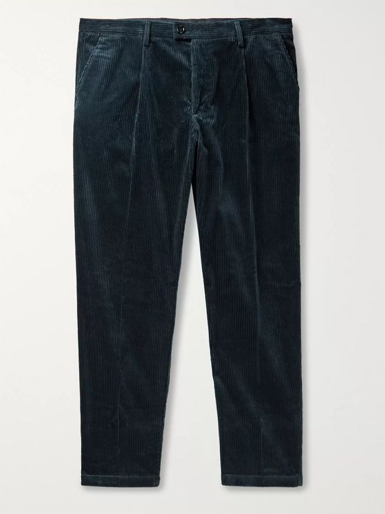 Hugo Boss Wide-Leg Stretch-Cotton Corduroy Trousers