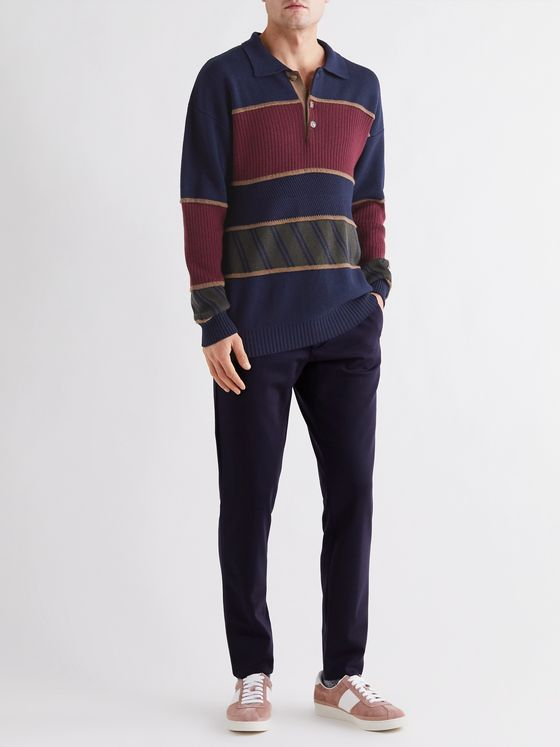 Etro Striped Virgin Wool Rugby Shirt