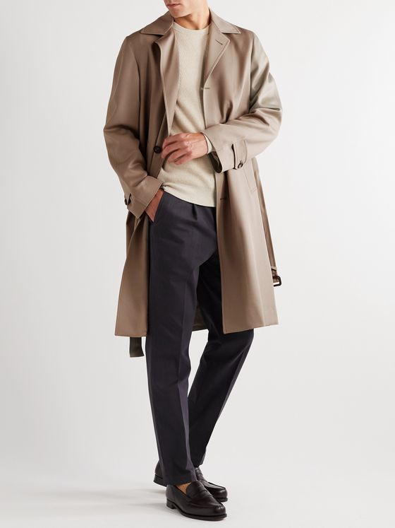 SAMAN AMEL Virgin Wool Overcoat