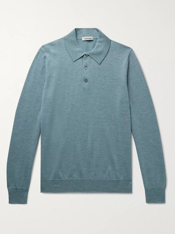 Saman Amel Merino Wool Polo Shirt