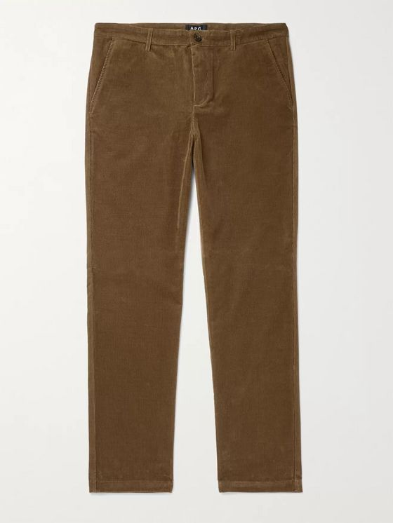 A.P.C. Maxence Slim-Fit Tapered Cotton-Corduroy Trousers