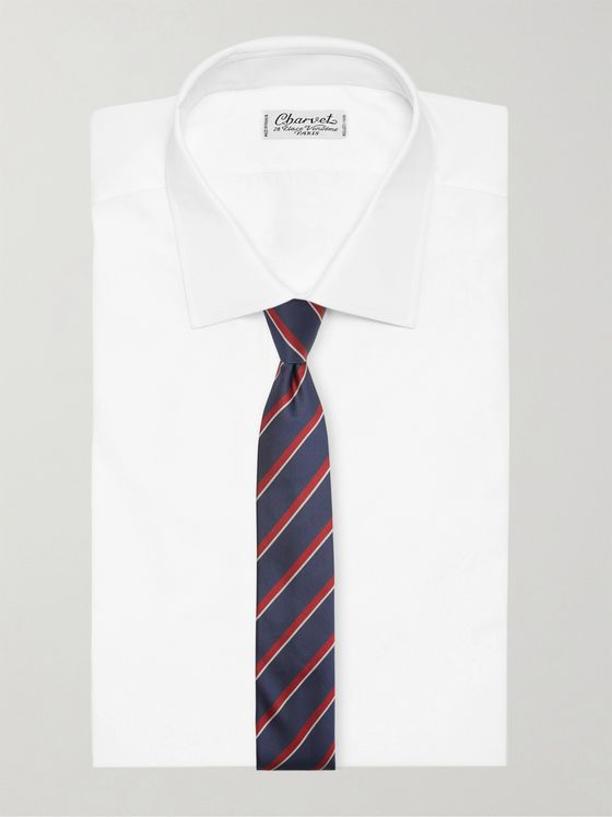 Gucci 7.5cm Striped Embroidered Silk-Twill Tie