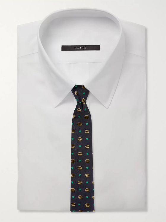Gucci 7.5cm Logo-Jacquard Wool and Silk-Blend Tie