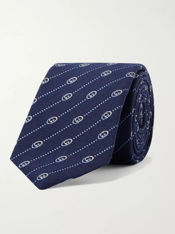 Gucci 7.5cm Logo-Jacquard Silk and Wool-Blend Tie