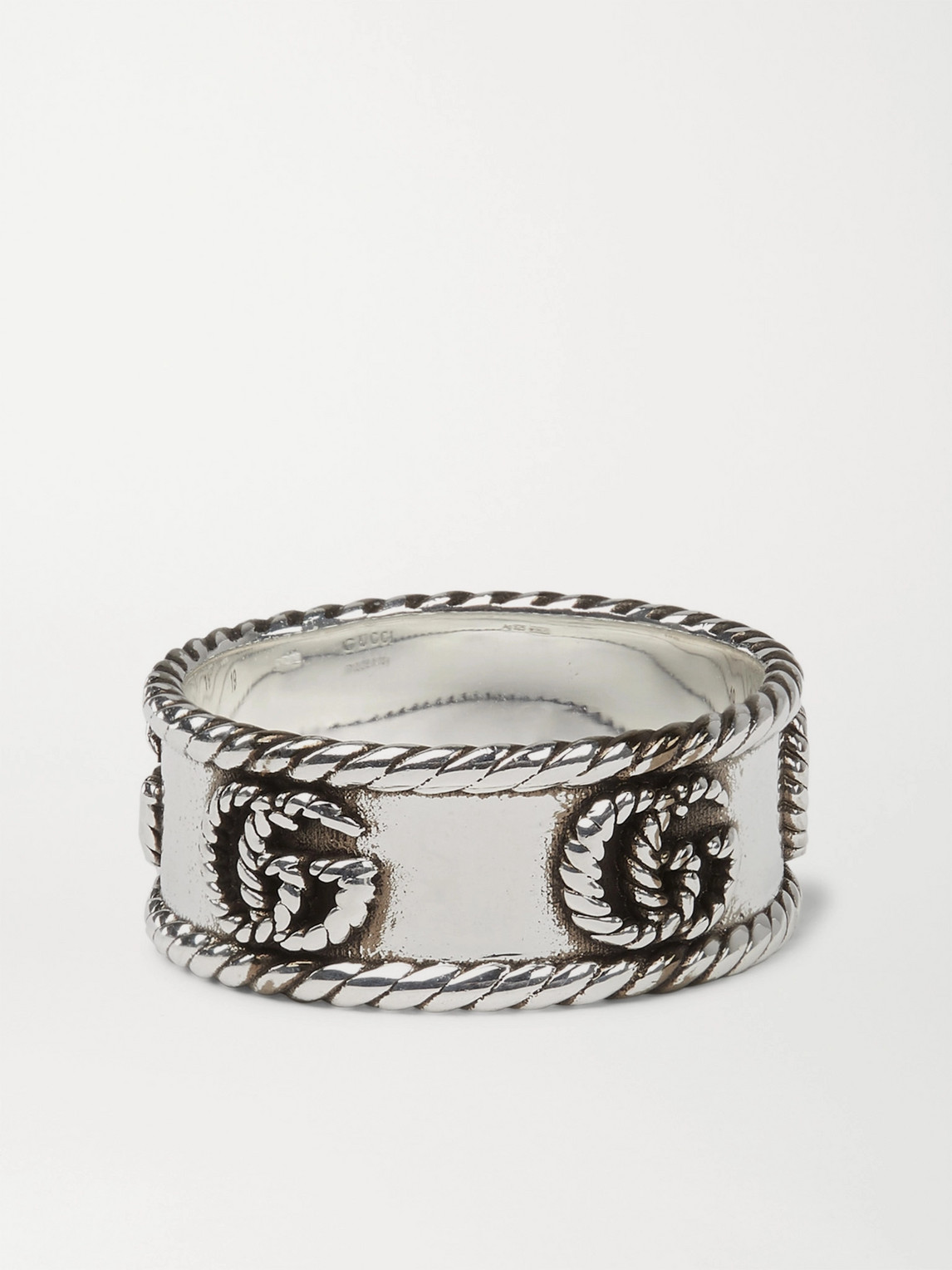 Gucci Marmont Burnished Sterling Silver Ring