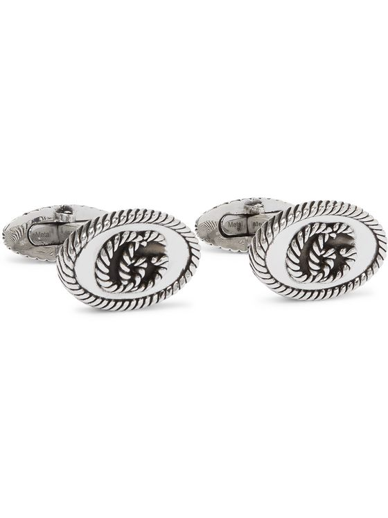 GUCCI Marmont Sterling Silver Cufflinks