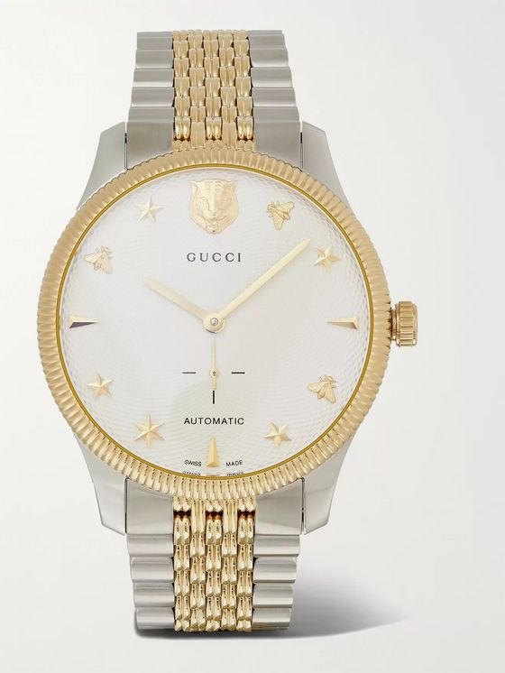 GUCCI G-Timeless Automatic 40mm Stainless Steel and PVD-Plated Watch