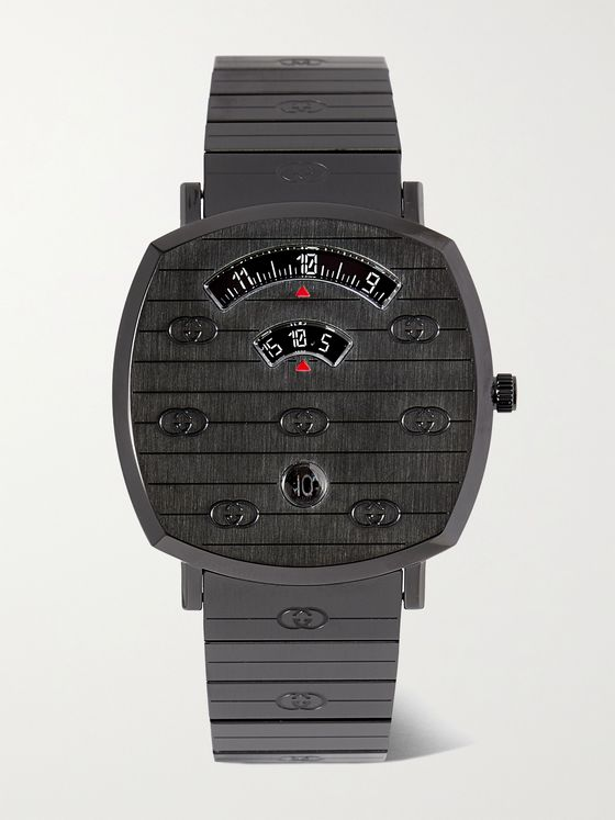 GUCCI Grip 38mm PVD-Coated Stainless Steel Watch