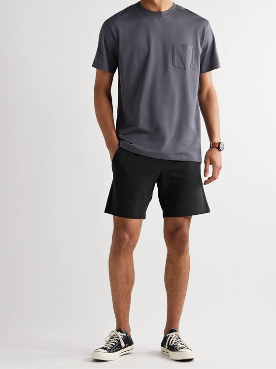 Handvaerk Flex Loopback Pima Cotton-Blend Jersey Drawstring Shorts