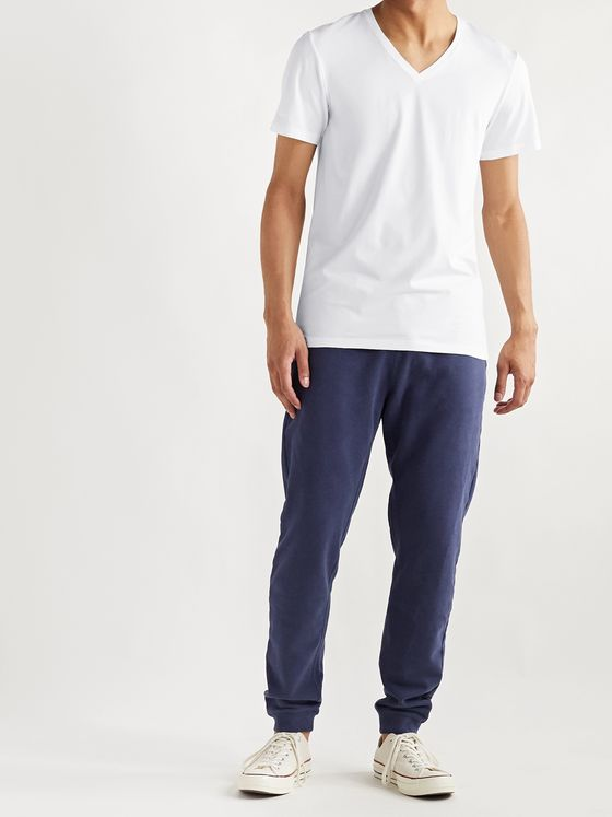 Hanro Superior Mercerised Stretch-Cotton T-Shirt