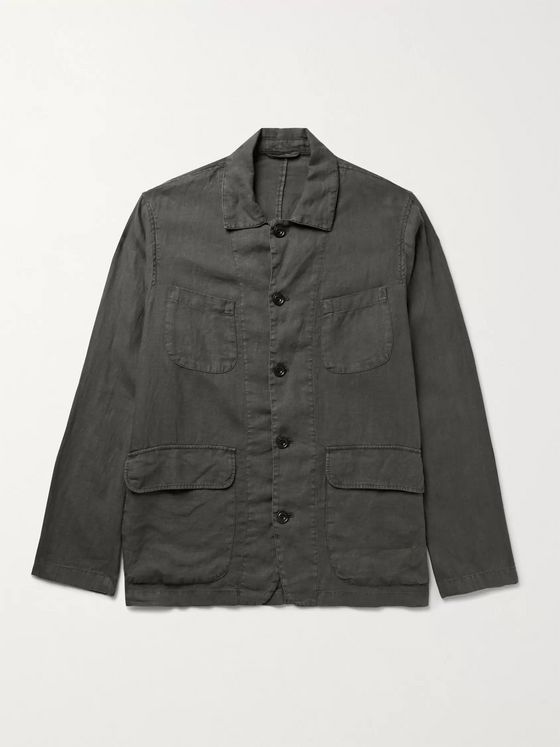 HARTFORD Jeffrey Slub Linen Jacket