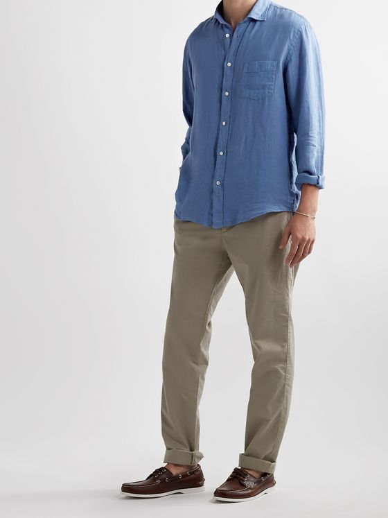 HARTFORD Paul Pat Slub Linen Shirt