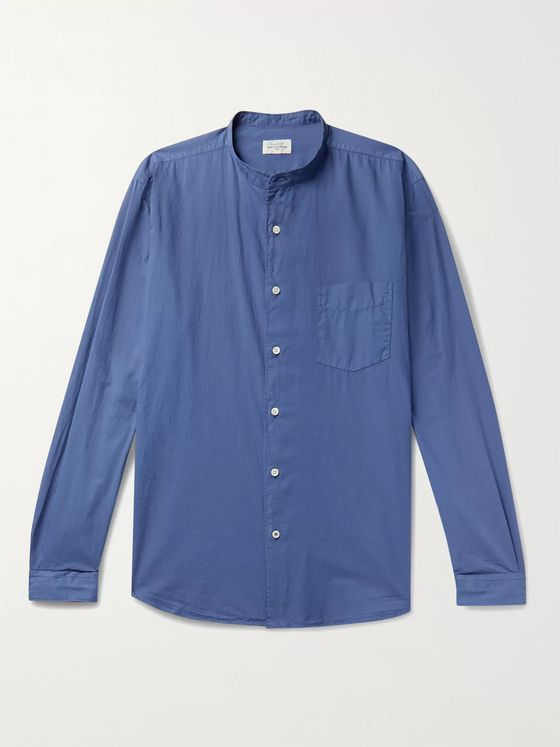 HARTFORD Grandad-Collar Cotton Shirt