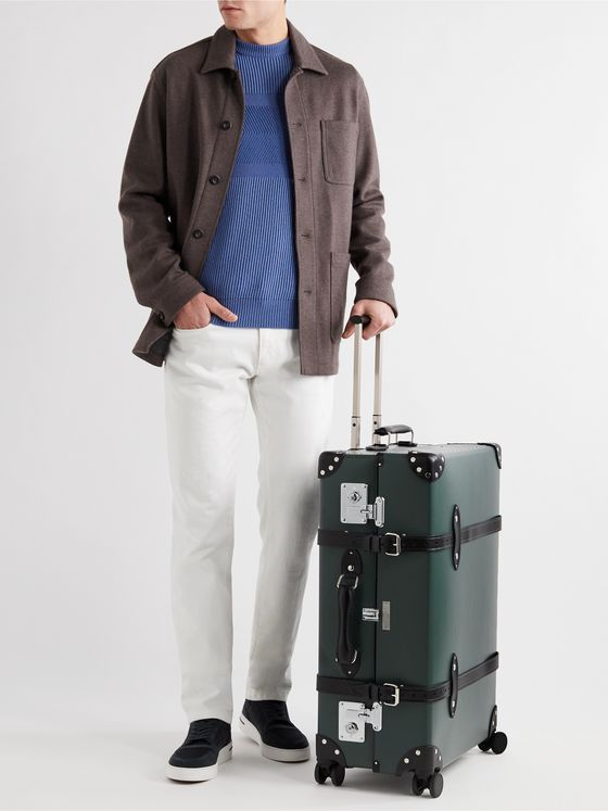 "GLOBE-TROTTER + No Time to Die 30"" Leather-Trimmed Trolley Case"