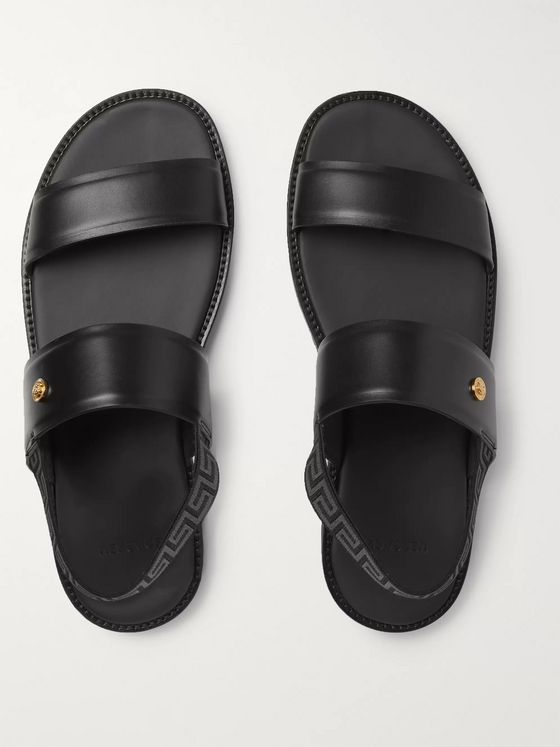 Versace Appliquéd Leather Sandals