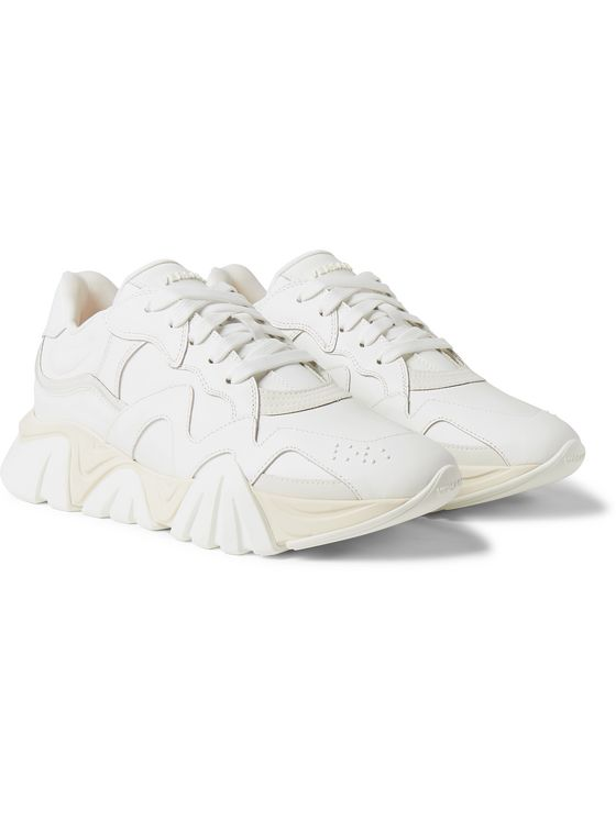 Versace Squalo Leather Sneakers
