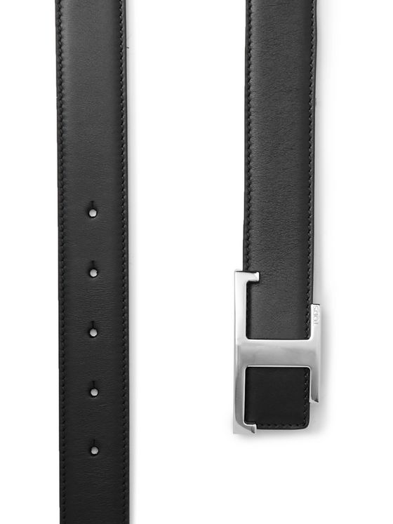 Tod's 3cm Reversible Smooth and Full-Grain Leather Belt