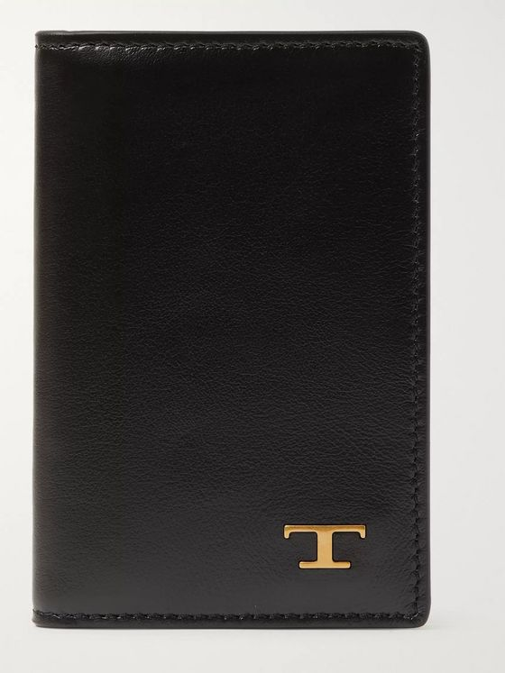 Tod's Logo-Embellished Leather Bifold Cardholder