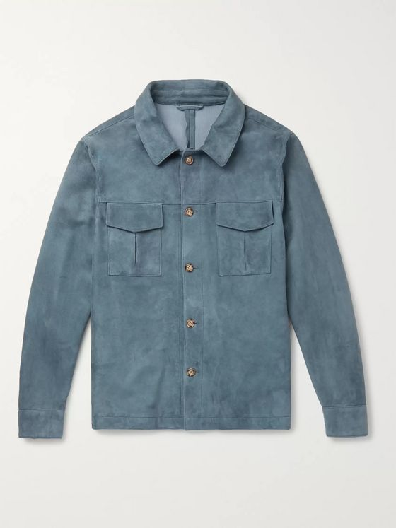 Valstar Slim-Fit Suede Shirt Jacket