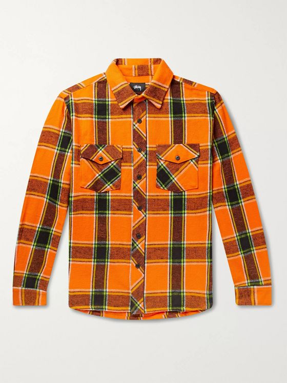 Stüssy Ace Checked Cotton-Flannel Shirt