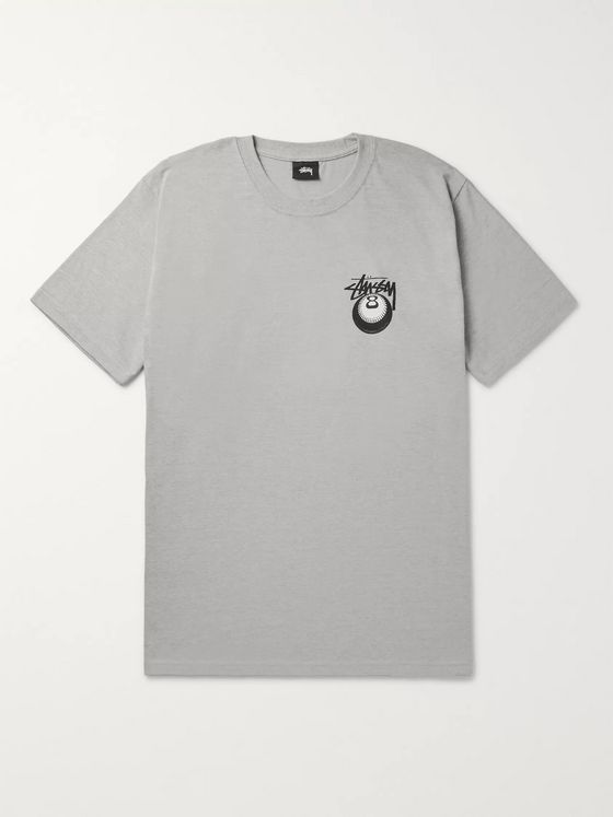 Stüssy Cobra Printed Cotton-Blend Jersey T-Shirt