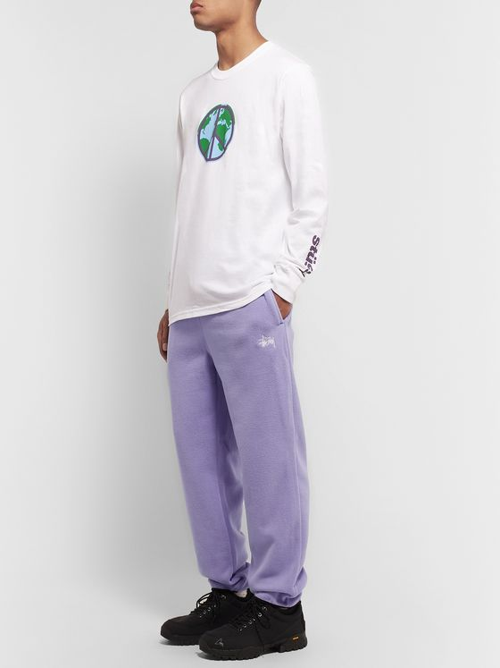 Stüssy Logo-Embroidered Fleece Sweatpants