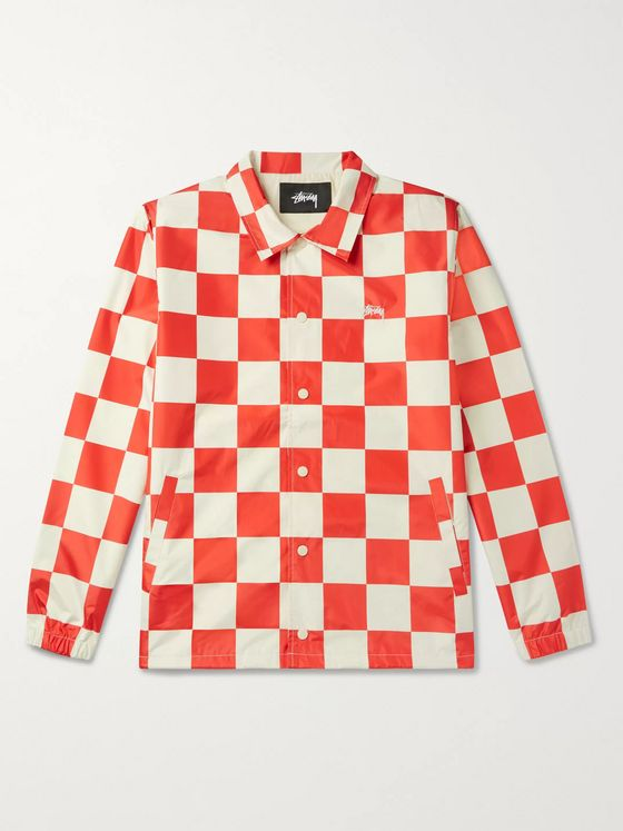 Stüssy Checkerboard Shell Coach Jacket