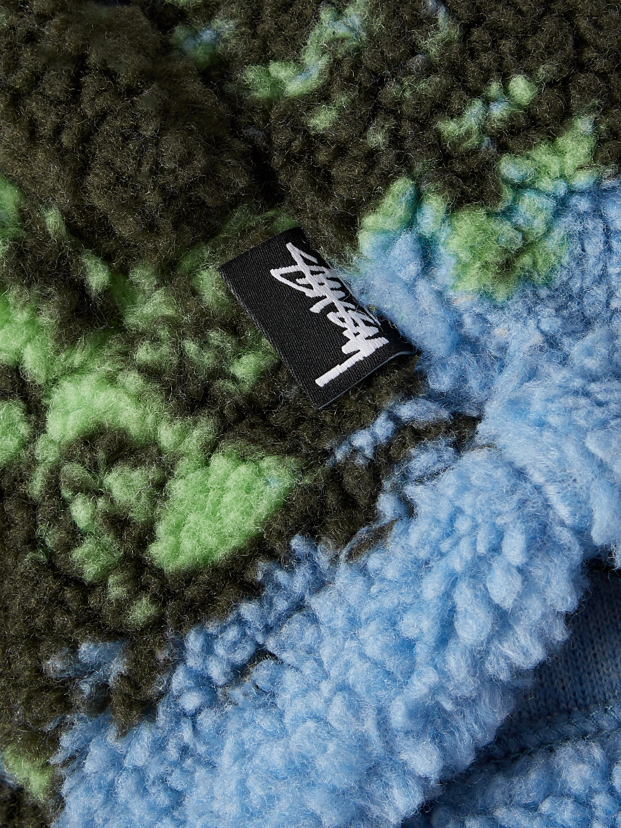 Stüssy Sherpa-Jacquard Zip-Up Sweatshirt