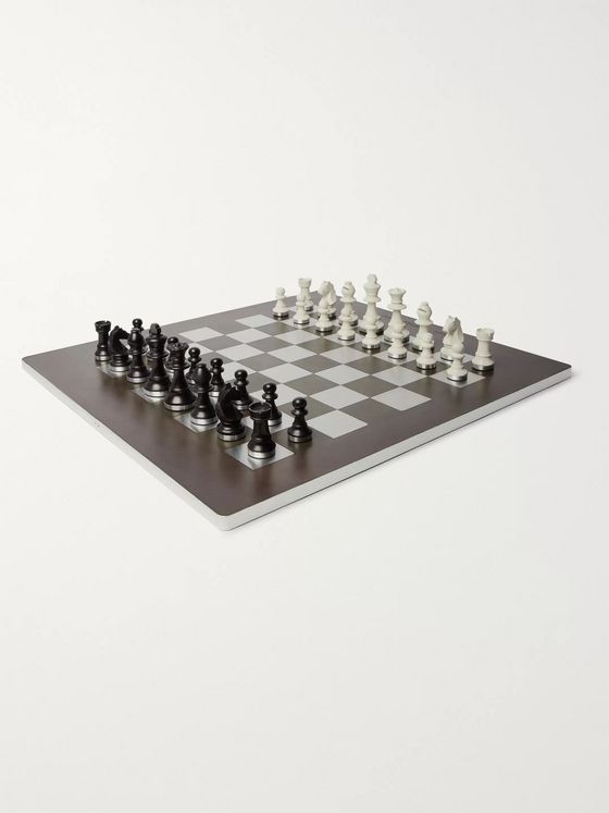 Berluti Venezia Leather, Metal and Wood Chess Set