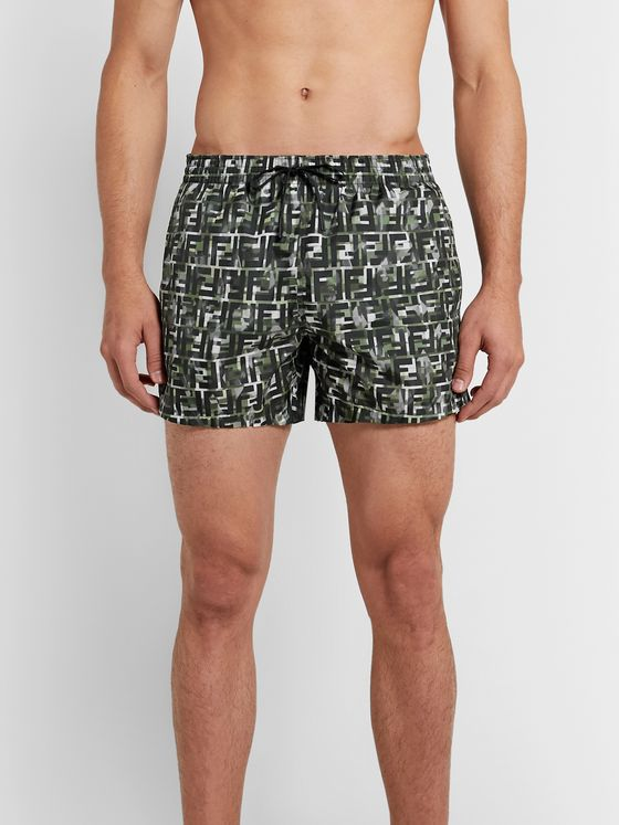 Fendi Logo-Print Swim Shorts