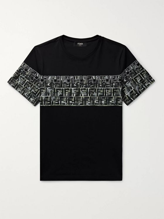 Fendi Logo-Print Cotton-Jersey T-Shirt