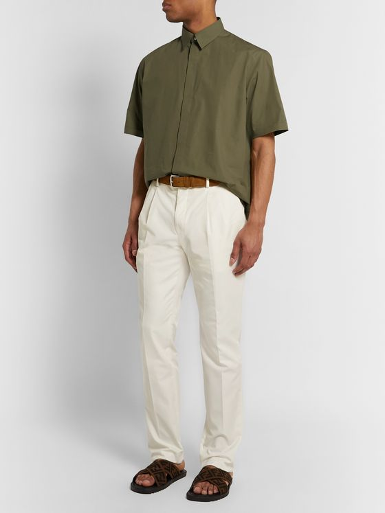 Fendi Cotton-Poplin Shirt