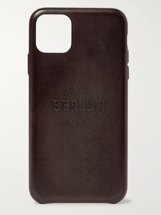 Berluti + Native Union Logo-Detailed Leather iPhone 11 Pro Max Case