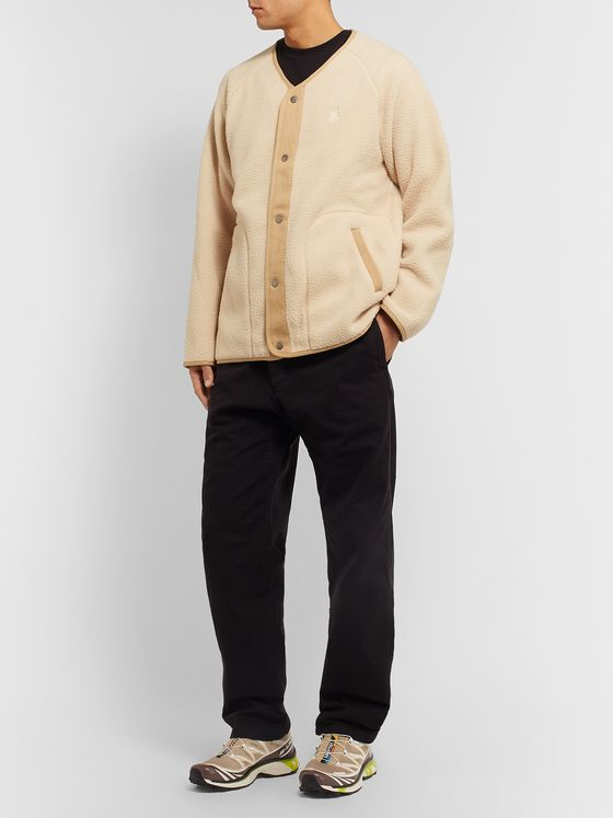 Gramicci Boa Grosgrain-Trimmed Micro Fleece Jacket