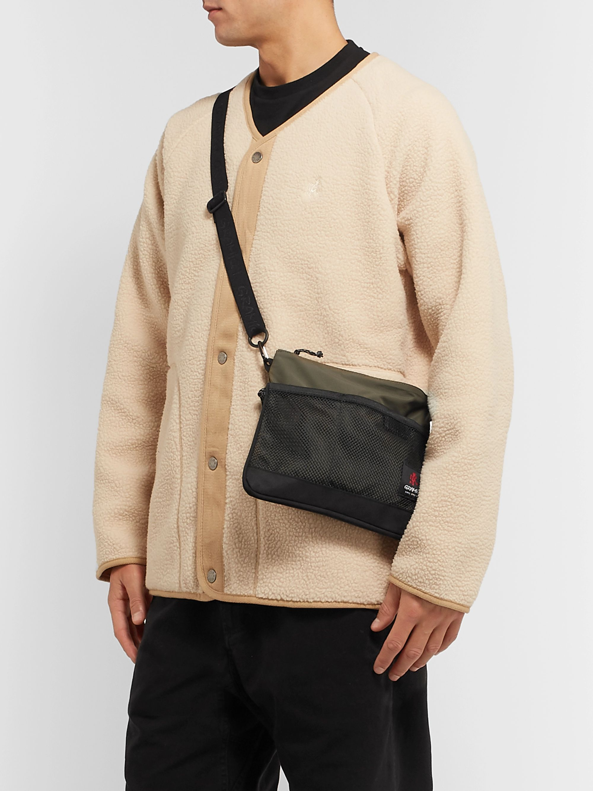 Gramicci Mesh-Trimmed Shell Messenger Bag