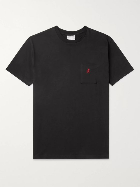 Gramicci * Logo-Embroidered Cotton-Jersey T-Shirt