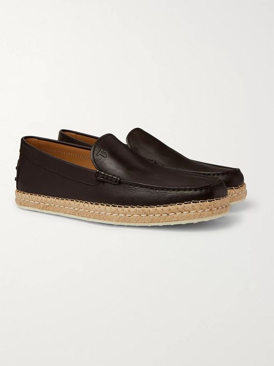 Tod's Leather Espadrille Loafers