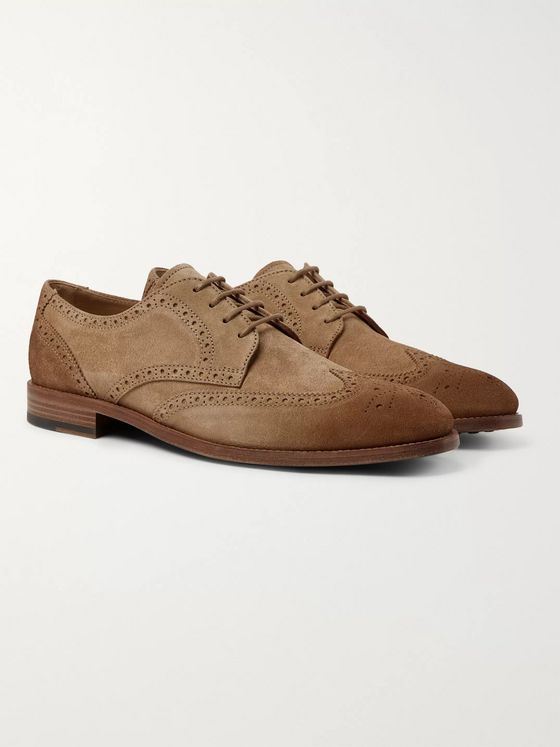 Tod's Gommino Burnished-Suede Brogues