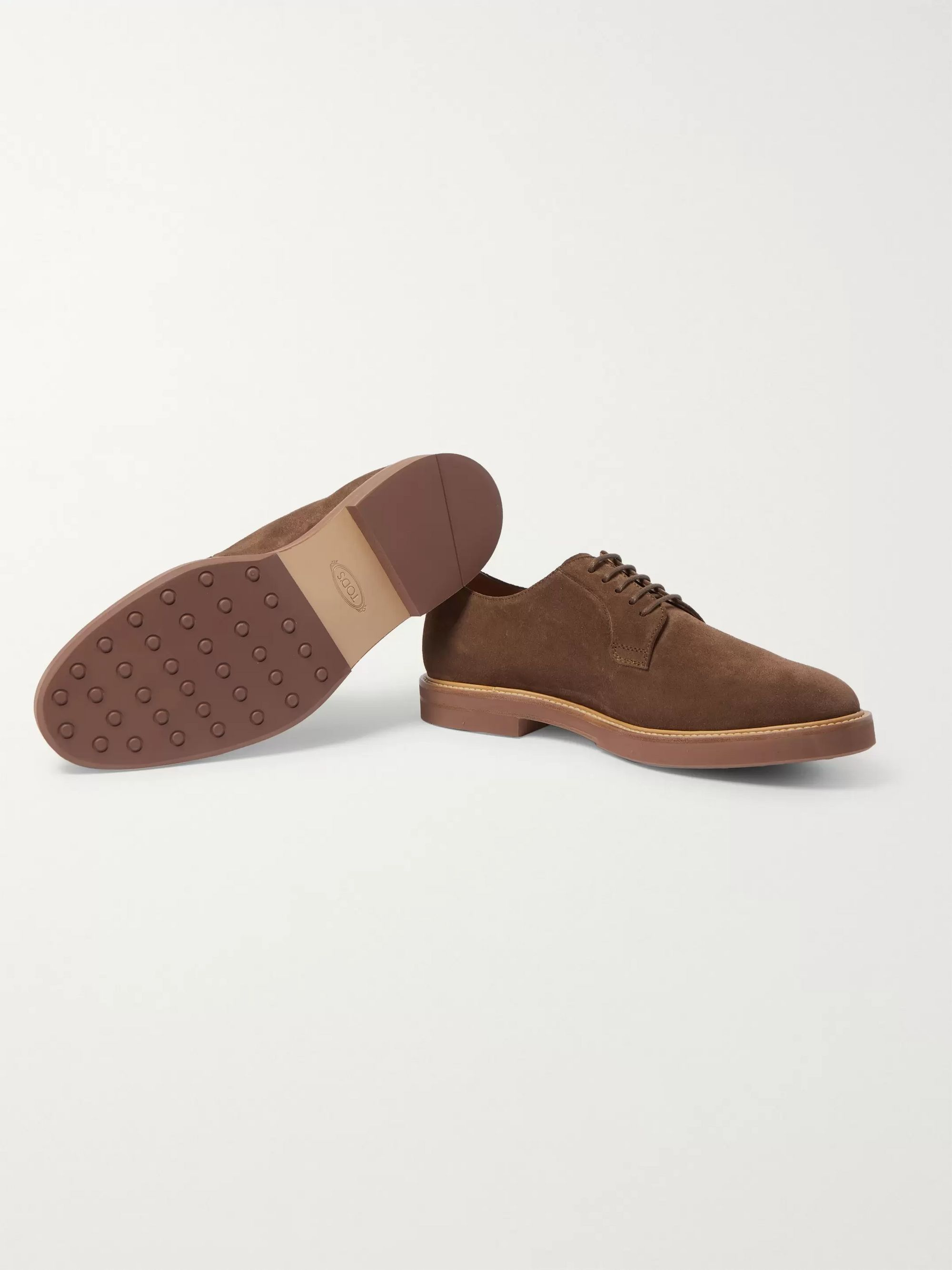 Tod's Gommino Suede Derby Shoes