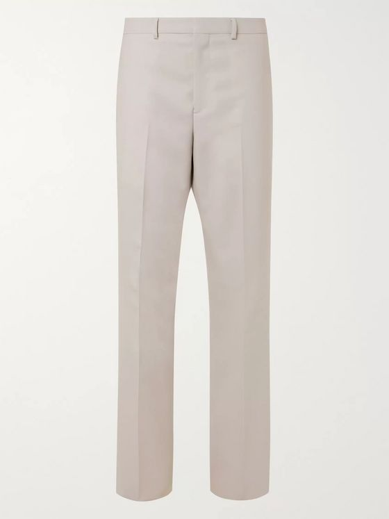 Givenchy Wide-Leg Pleated Wool Suit Trousers