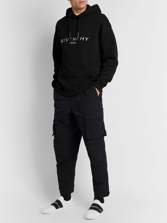 Givenchy Logo-Appliquéd Loopback Cotton-Jersey Hoodie